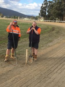 Tasracing track staff at the New Norfolk track