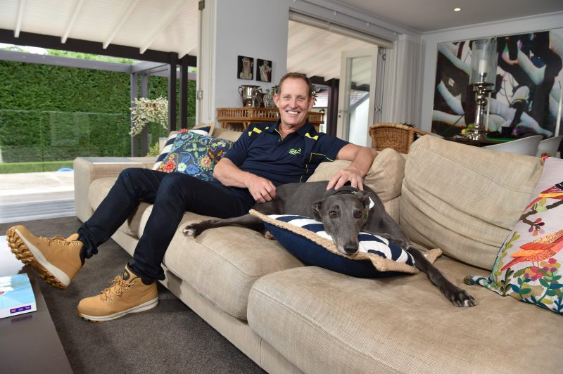 Todd McKenney with one of his adopted greyhounds Joey