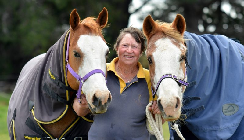 Beryl Murray with 12yo Hombre (left) and Mia's Little Rippa.